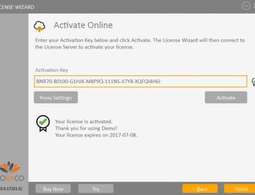 QLM License Wizard – Online Activation