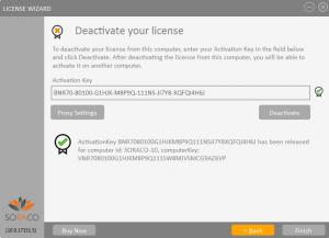 QLM License Wizard DeActivation